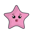 star kawaii cartoon vector image