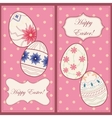 Backgrounds set with easter eggs vector image vector image
