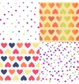 Bright seamless patterns set vector image