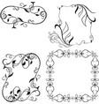 set frame elements isolated on white background vector image