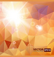 Retro triangle background with sunburst flare vector image