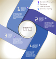 Modern blue design layout vector image