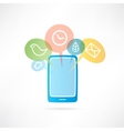 mobile phone with messages on the display vector image vector image