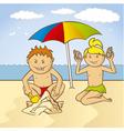 beach fun vector image