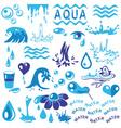 aqua vector image