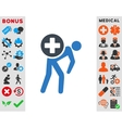 Medication Courier Icon vector image
