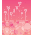 valentines love flower vector image