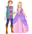 charming prince and beautiful princess vector image