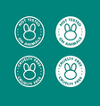 Cruelty free not tested on animal sign icon symbol vector image vector image