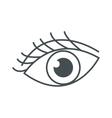 eye with eyelashes icon vector image