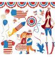 american symbolics vector image