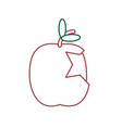 apple fruit icon image vector image