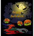 Card for Halloween party vector image