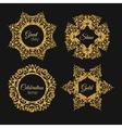 gorden glitter frame Vintage gold frames vector image