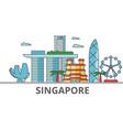 singapore city skyline buildings streets vector image