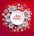 winter snowflakes cut vector image