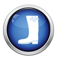 Rubber boot icon vector image vector image