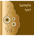 Scrapbook with jewelry flowers vector image