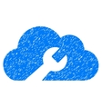 Cloud Wrench Tools Grainy Texture Icon vector image