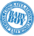 Baby boy stamp vector image