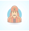 Firefighter fireman icon Avatar and person vector image