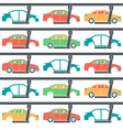 Production line of cars pattern vector image