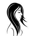 beauty face girl portrait - vector image