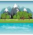 Beautiful landscape background icon vector image