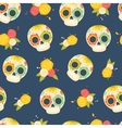 Day of the dead colorful pattern vector image