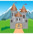 Fortress in mountain vector image