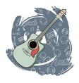 guitar rock music-02 vector image