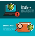 infographic security checkmark design vector image