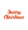 Merry Christmas hand lettering calligraphy vector image