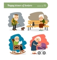 Retirement old people vector image