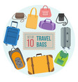 set of travel bags vector image