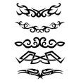 Tattoo tribal set vector image