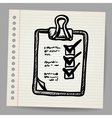check list on clipboard vector image vector image