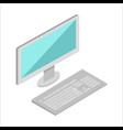 computer in isometric projection vector image