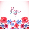 Floral background with pink and blue flowers vector image vector image