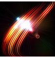 Abstract background with blurred light curved vector image vector image