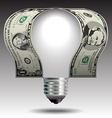 Money idea Light Bulb vector image