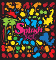 Ink Splash Set vector image