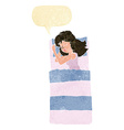 cartoon sleeping woman with speech bubble vector image