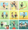 Set of Business Concepts in Flat Design vector image
