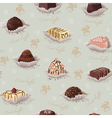 Background with chocolate candies vector image