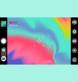 camera viewfinder modern interface concept vector image