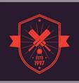 cricket vintage logo emblem vector image