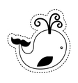 cute whale toy isolated icon vector image