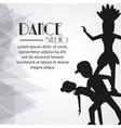 Dance studio avatar dancer design vector image