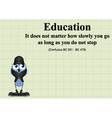 Education do not stop vector image
